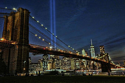 Photograph - Tribute In Light # 1 by Allen Beatty