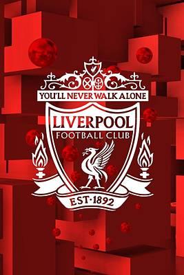 Liverpool Digital Art - Tribute To Liverpool 3 by Alberto RuiZ