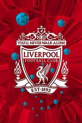 Liverpool Digital Art - Tribute To Liverpool 4 by Alberto RuiZ