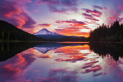 Trillium Lake Sunrise Art Print