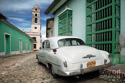 Fifties Automobile Photograph - Trinidad - Cuba by Rod McLean