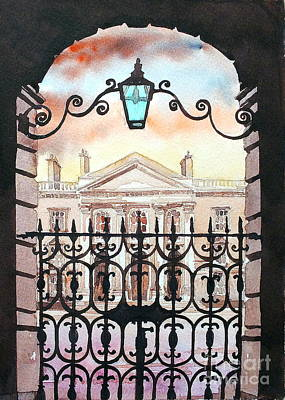 Painting - Trinity College, Dublin by Val Byrne