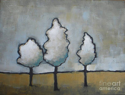 Painting - White Trio by Vesna Antic