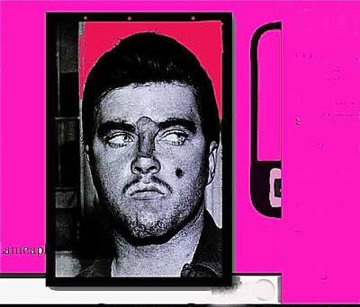Triple Murderer Charles Schmid In Makeup Tucson Arizona Collage Circa 1966-2013  Art Print