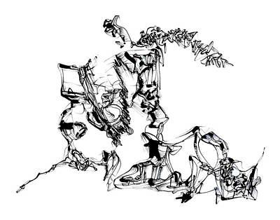 Drawing - Tripped by Daniel Schubarth