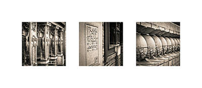 Tryptych Photograph - Triptych - Frank Lloyd Wright by Niels Nielsen