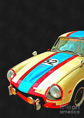 Pop Art Royalty-Free and Rights-Managed Images - Triumph GT Pop Art by Edward Fielding