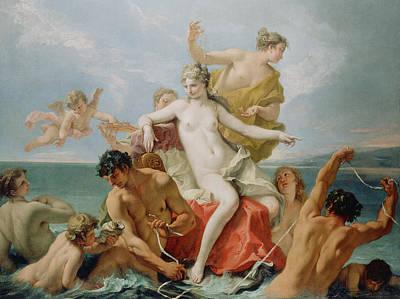 Triumph Of The Marine Venus Art Print by Sebastiano Ricci