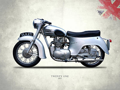 Triumph Bonneville Photograph - Triumph Twenty One 1957 by Mark Rogan