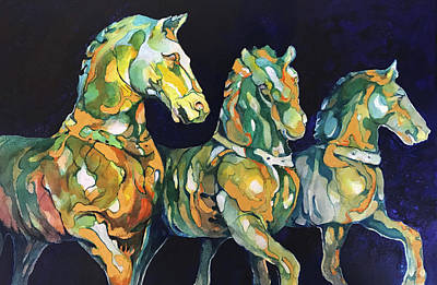 Wall Art - Painting - Triumphant Horses Of Constantinople by Beverly Berwick