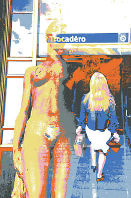 Mixed Media - Trocadero by Shay Culligan
