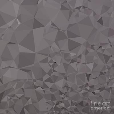 Trolley Digital Art - Trolley Grey Abstract Low Polygon Background by Aloysius Patrimonio