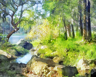 Digital Art - Tropical Brook by Francesa Miller