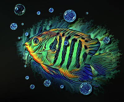 Digital Art - Tropical Fish by Artful Oasis