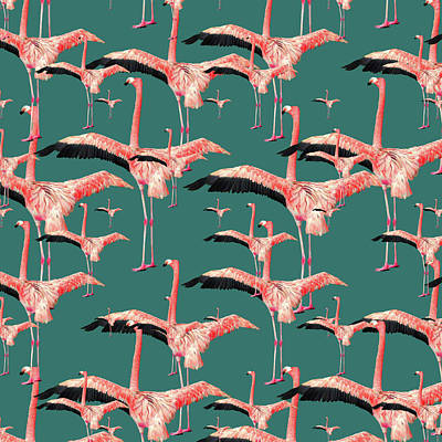 Abstract Patterns Photograph - Tropical Flamingo  by Mark Ashkenazi