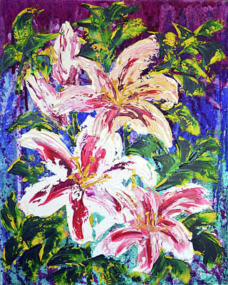 Painting - Tropical Flowers by Lynda Cookson