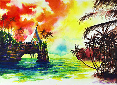 Tropical Landscape 15 Art Print by Nelson Ruger