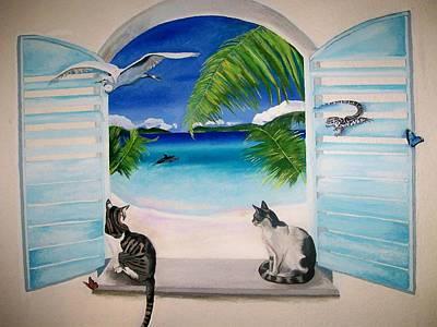 Painting - Tropical Mural by Kathleen Heese