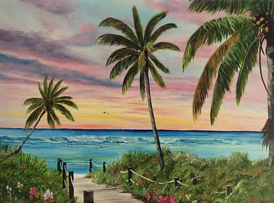Tropical Paradise Art Print