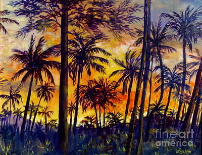 Painting - Tropical Sunset by Lou Ann Bagnall