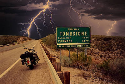 Gunfight Digital Art - Trouble In Tombstone by Gary Baird