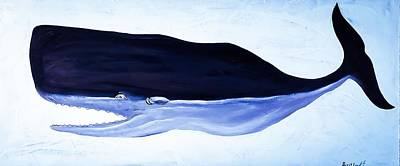 Wall Art - Painting - Trouble Sperm Whale by Barry Knauff