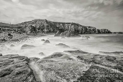 Trow Rocks From Graham Sands Print by Andy Blakey