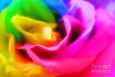 Rainbow Rose Photograph - True Colors by Krissy Katsimbras