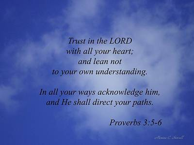 Photograph - Trust In The Lord... by Monica C Stovall