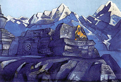 Russian Painting - Tsong-kha-pa by Nicholas Roerich