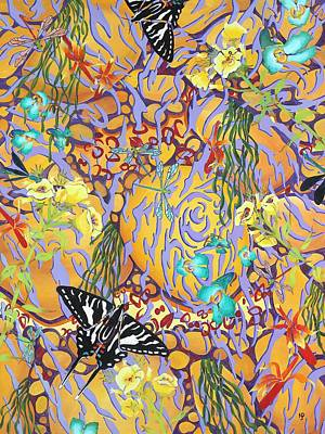 Zebra Swallowtail Painting - Tubing On The James 2 by Nancy Jane Dodge