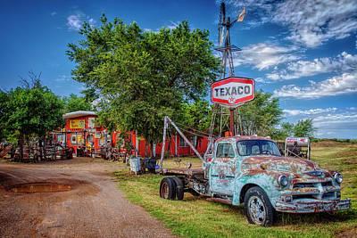 Tucumcari Trading Post Art Print by Diana Powell