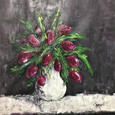Tulips In A Vase Original