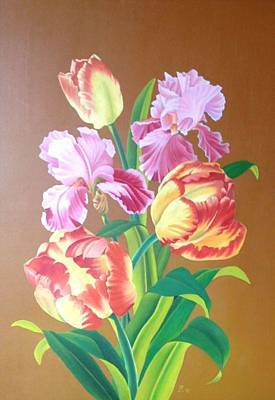 Painting - Tulips by Zdzislaw Dudek