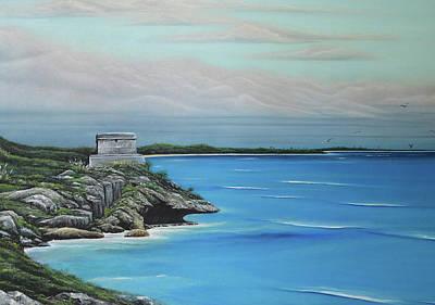 Ocean Painting - Tulum by Angel Ortiz