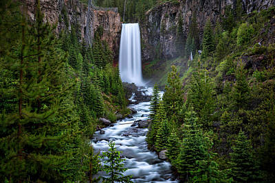 Photograph - Tumalo Falls by Cat Connor