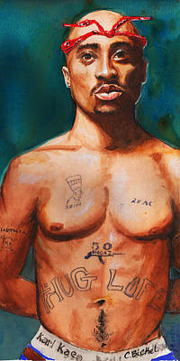 Painting - Tupac  by Charles Bickel