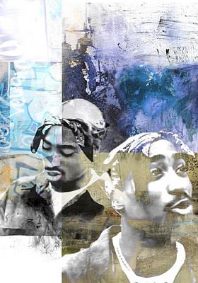 Ghetto Photograph - Tupac Graffitti 79 by Jani Heinonen