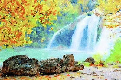 Digital Art - Turner Falls by Betty LaRue