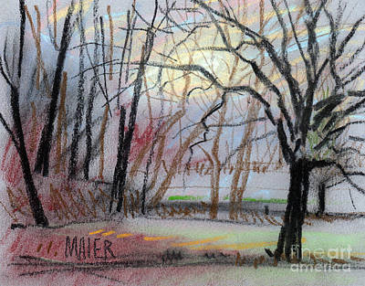 Landscape Drawing - Turner South by Donald Maier