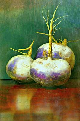 Photograph - Three Turnips by Diana Angstadt