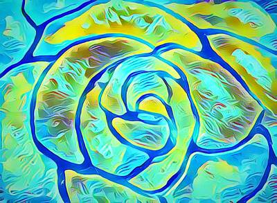 Painting - Turquoise Rose by Anne Sands