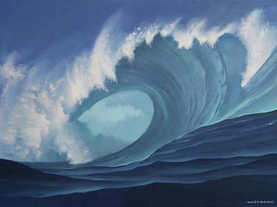 Painting - Turquoise Surf by Cliff Wassmann