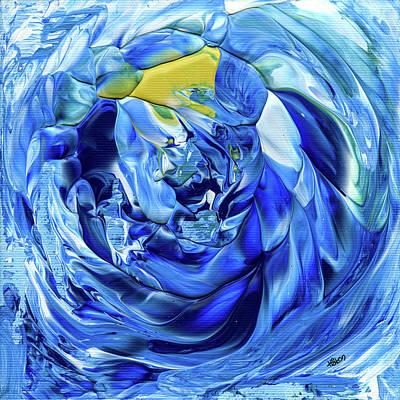 Painting - Turquoise Swirl by Hakon Soreide