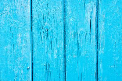 Turquoise Wood Art Print by Tom Gowanlock