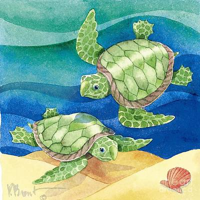 Turtle Friend Art Print by Paul Brent