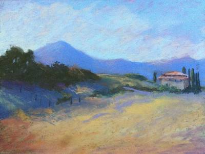 Painting - Tuscan Farm by Janet Biondi