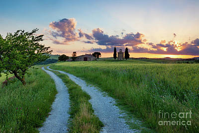 Photograph - Tuscan Sunset by Brian Jannsen