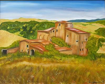 Tuscan Hills Painting - Tuscan Villa by Marianne Eichenbaum