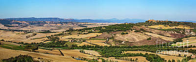 Photograph - Tuscany Landscape Panorama With Pienza Town On The Hill, Italy. by Michal Bednarek